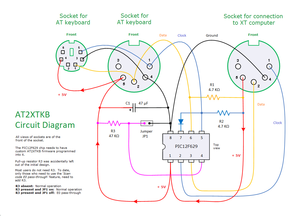 Keyboard Wiring Diagram : Keyboard ps connector wiring diagram get free